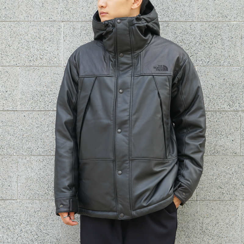[THE NORTH FACE PURPLE LABEL] Mountain Down Leather Jacket